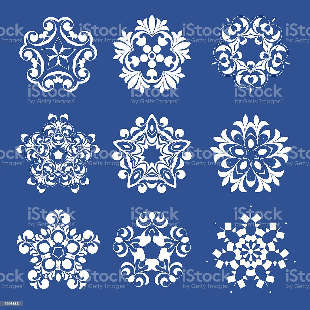 Snowflakes royalty-free snowflakes stock vector art & more images of abstract