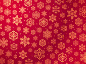 Red holiday snowflake background concept.