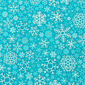 Blue holiday snowflake background concept.