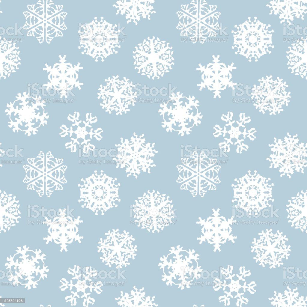 snowflakes winter seamless texture endless pattern stock vector art