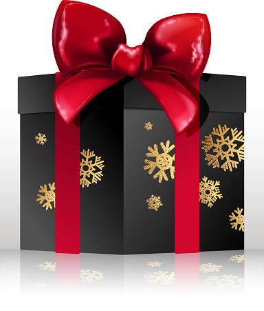 snowing gift box