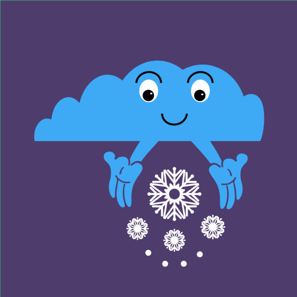 royalty free clouds winter snowing weather drawing clip art vector