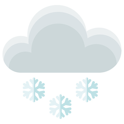 Snowing Icon on Transparent Background