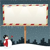 Snowman and billboard. Please see some similar pictures in my lightboxs: