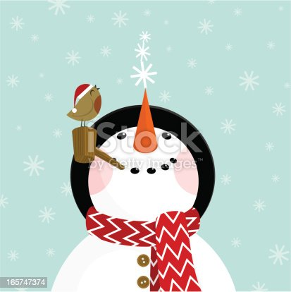 Snowman with snowflakes. Please see some similar pictures in my lightboxs: