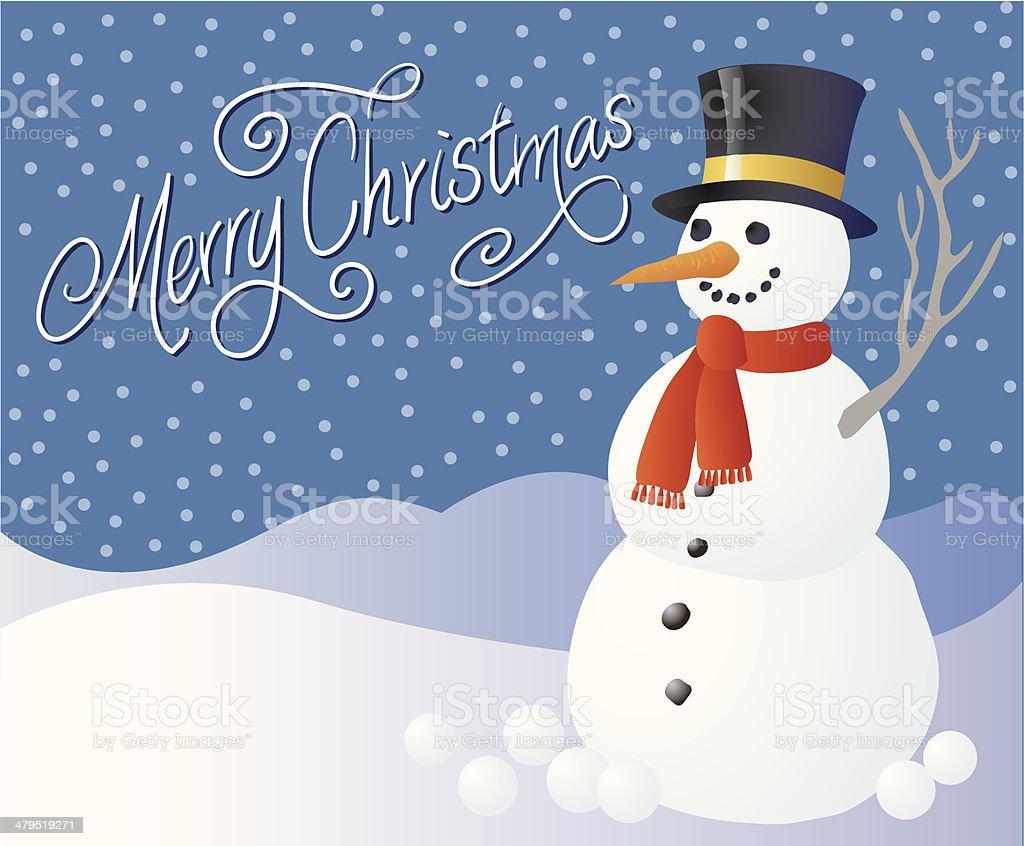 Snowman and snowballs royalty-free stock vector art