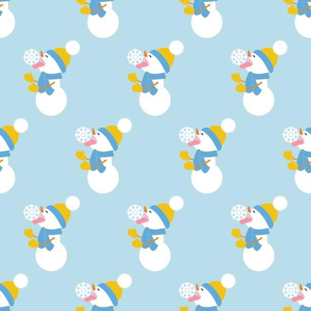 schneemann und schneeflocke muster - karotte peace stock-grafiken, -clipart, -cartoons und -symbole