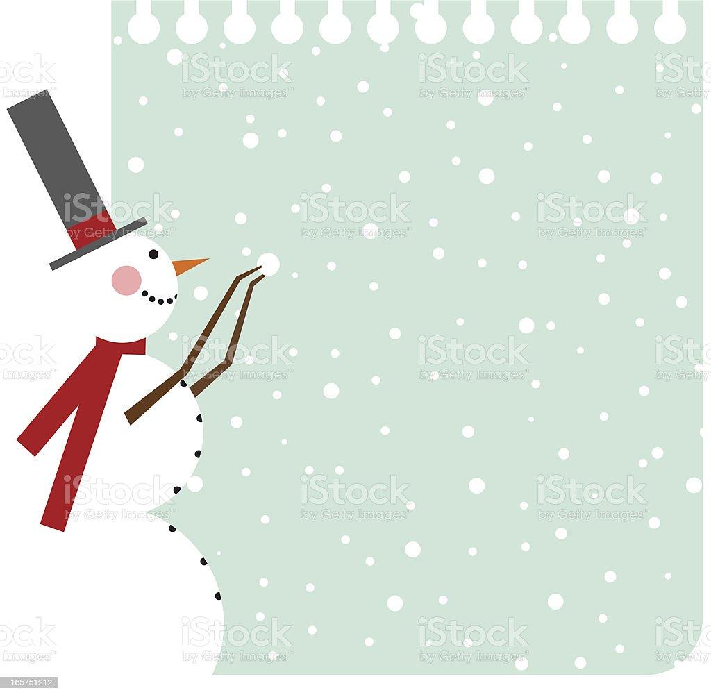 Snowman background vector art illustration