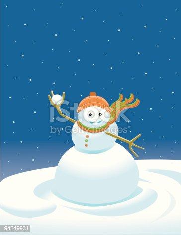 istock Snowman / Bonhomme de neige 94249931