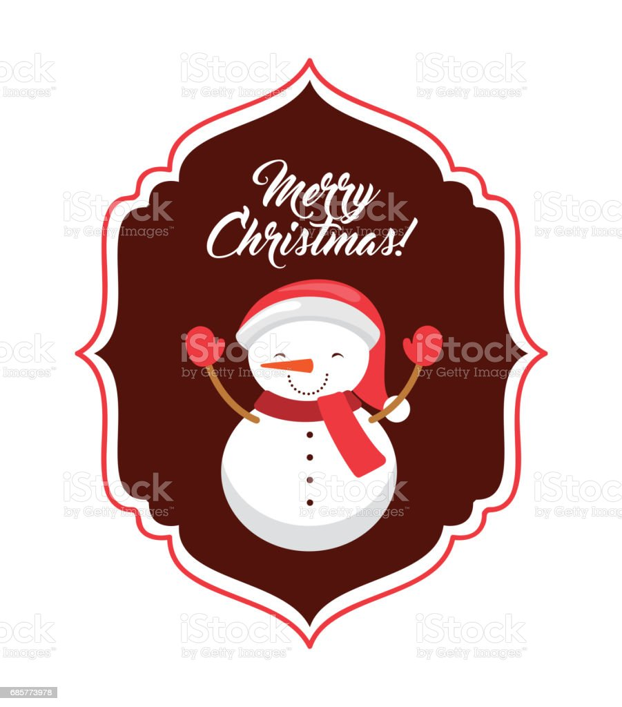 Snowman cartoon icon. Merry Christmas design. Vector graphic royalty-free snowman cartoon icon merry christmas design vector graphic stock vector art & more images of arts culture and entertainment