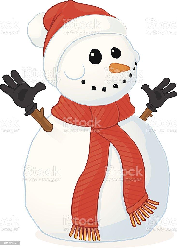 Snowman Cartoon royalty-free stock vector art
