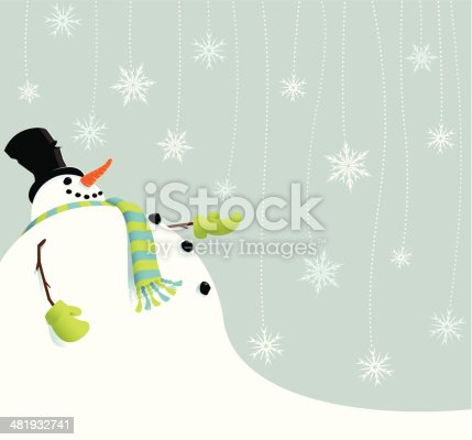 istock Snowman catching snowflakes 481932741