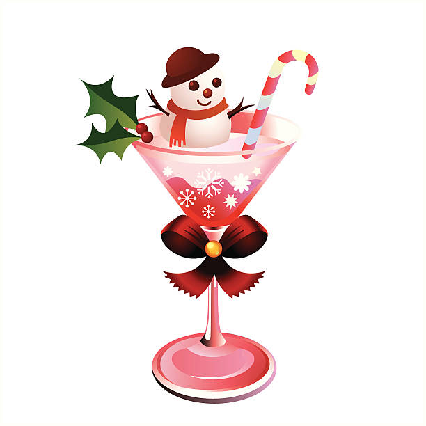 Royalty Free Christmas Cocktails Clip Art, Vector Images