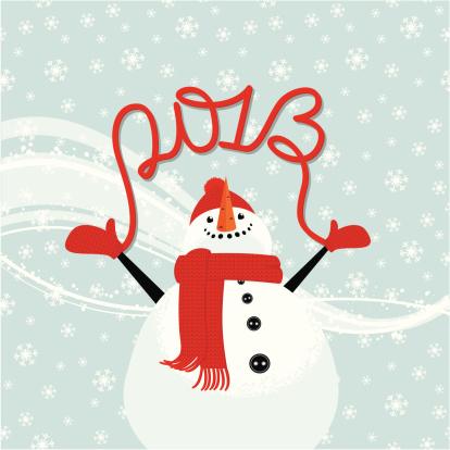 Snowman congratulates on 2013