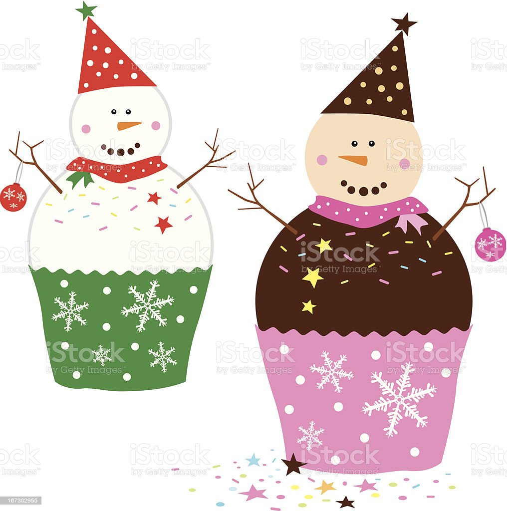 Snowman cupcakes royalty-free snowman cupcakes stock vector art & more images of backdrop