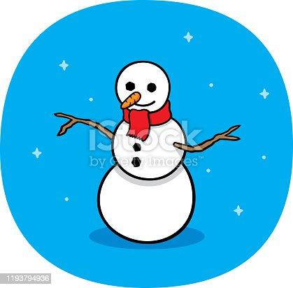 istock Snowman Doodle 1193794936