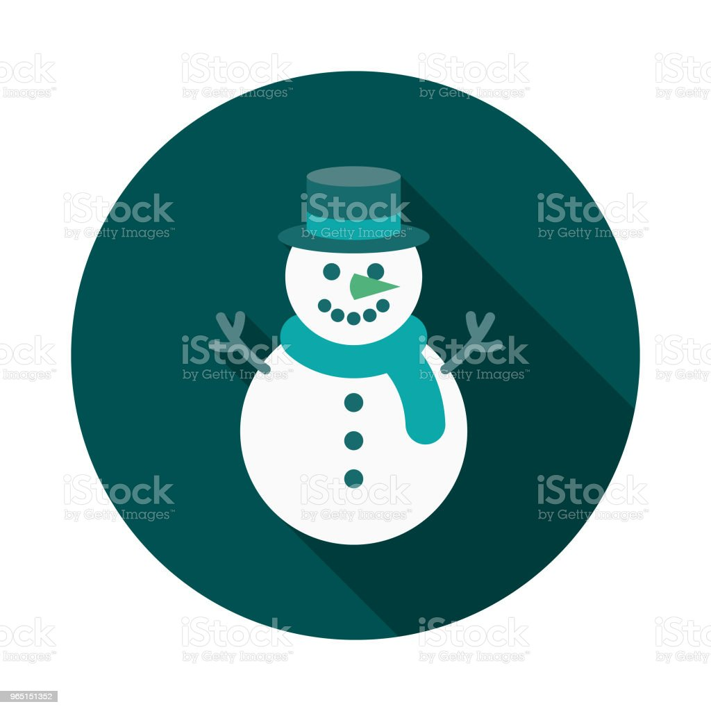 Snowman Flat Design Winter Icon with Side Shadow snowman flat design winter icon with side shadow - stockowe grafiki wektorowe i więcej obrazów bałwan śniegowy royalty-free