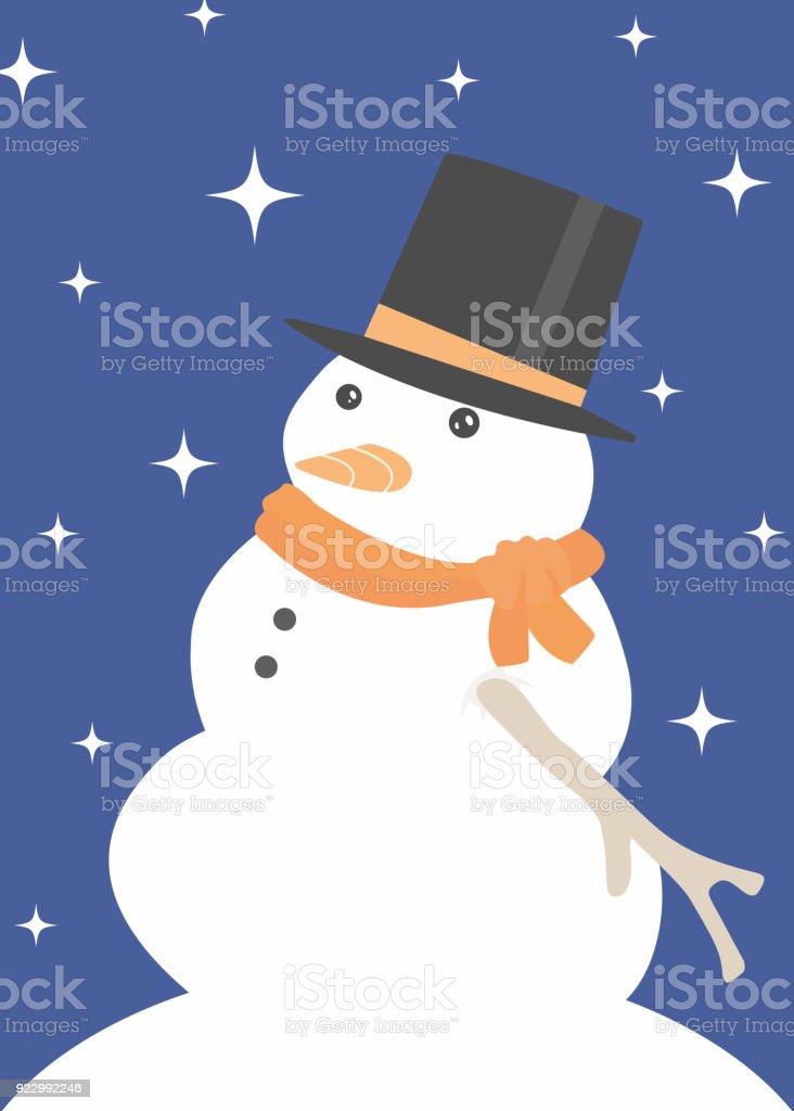 Snowman flat illustration vector art illustration
