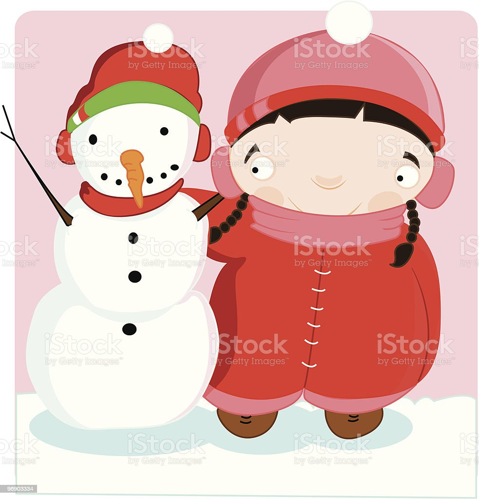 snowman friend royalty-free snowman friend stock vector art & more images of art and craft