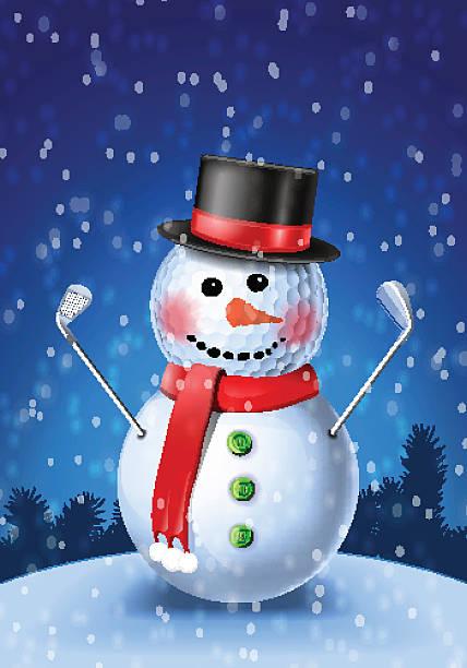 Best Golf Christmas Illustrations, Royalty-Free Vector ...