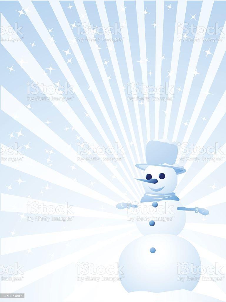 Snowman greeting card royalty-free stock vector art