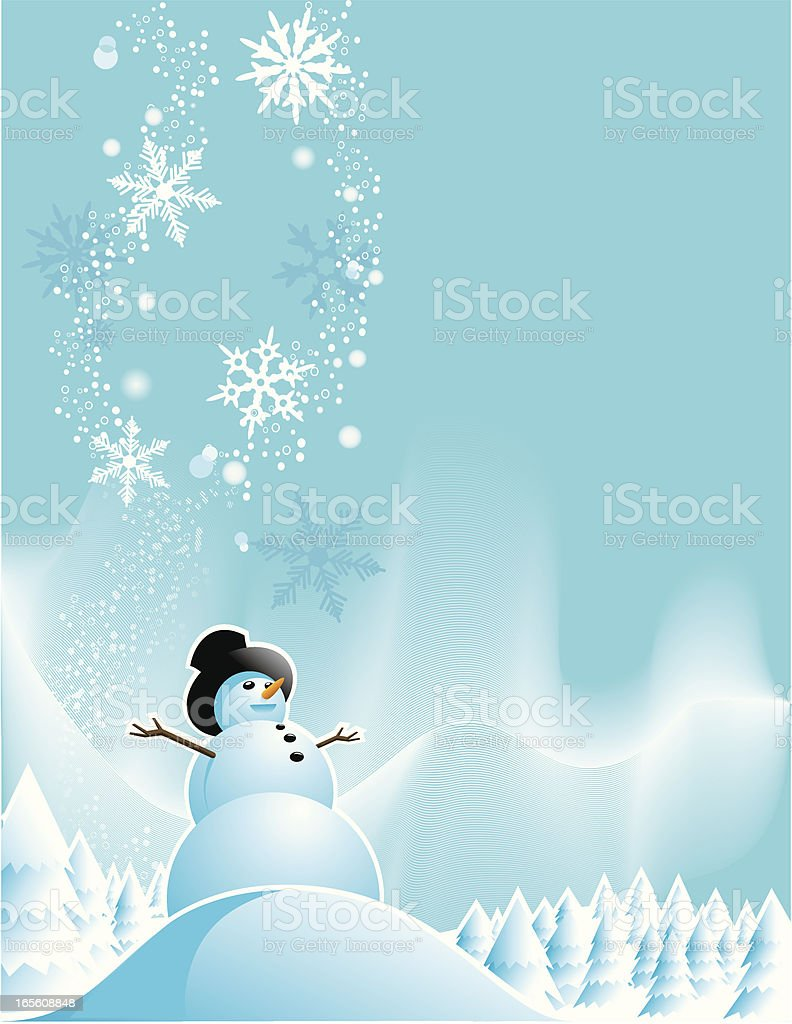 Snowman Holiday Greeting royalty-free snowman holiday greeting stock vector art & more images of arts culture and entertainment