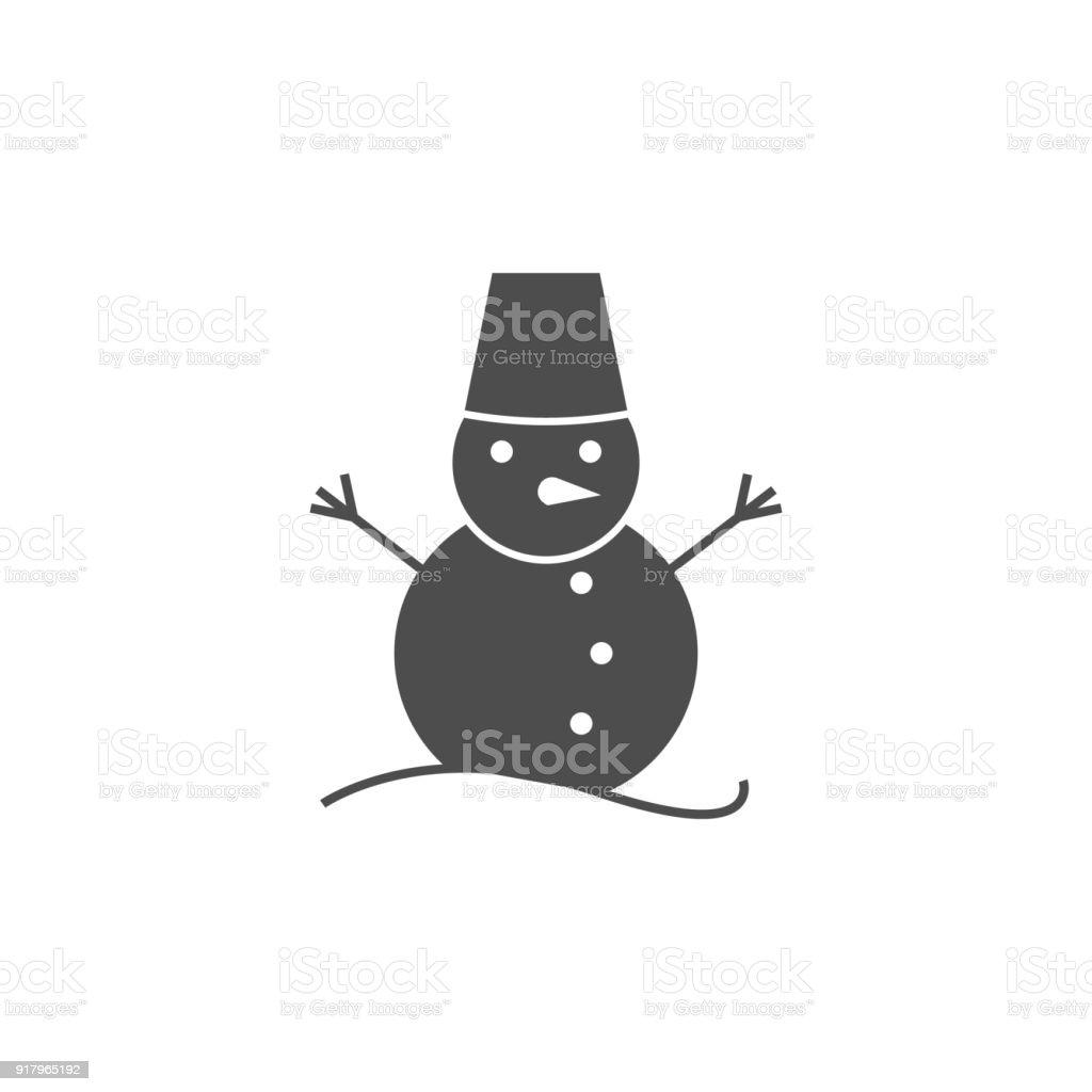 Bonhomme Graphique icône de bonhomme de neige Éléments de licône web icône de