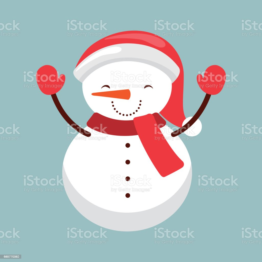 snowman icon. Merry Christmas design. Vector graphic snowman icon merry christmas design vector graphic - immagini vettoriali stock e altre immagini di agrifoglio royalty-free