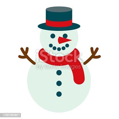 istock Snowman Icon on Transparent Background 1282050921