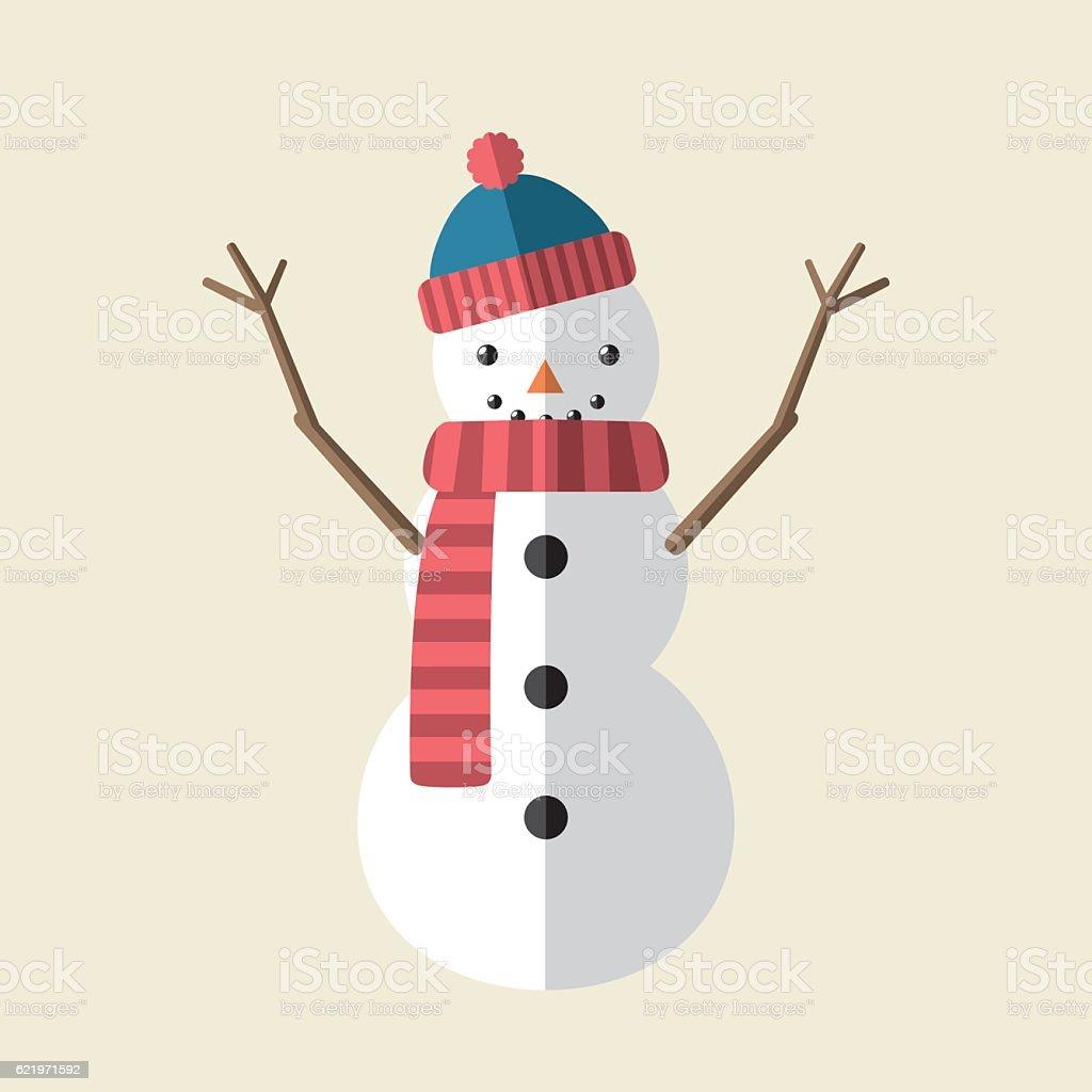 Icône de bonhomme de neige - Illustration vectorielle