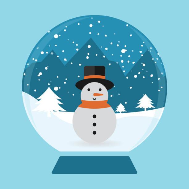 kardan adam kar küresi, kış sembolü - mountain top stock illustrations