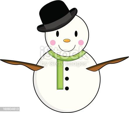 Bonhomme de neige en chapeau melon stock vecteur libres de - Tableau chapeau melon pomme verte ...