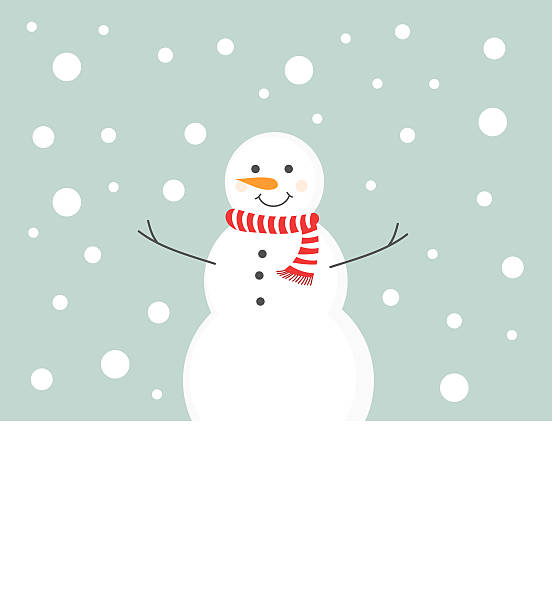 Snowman in scarf Snowman in scarf in winter scenery background snowman stock illustrations