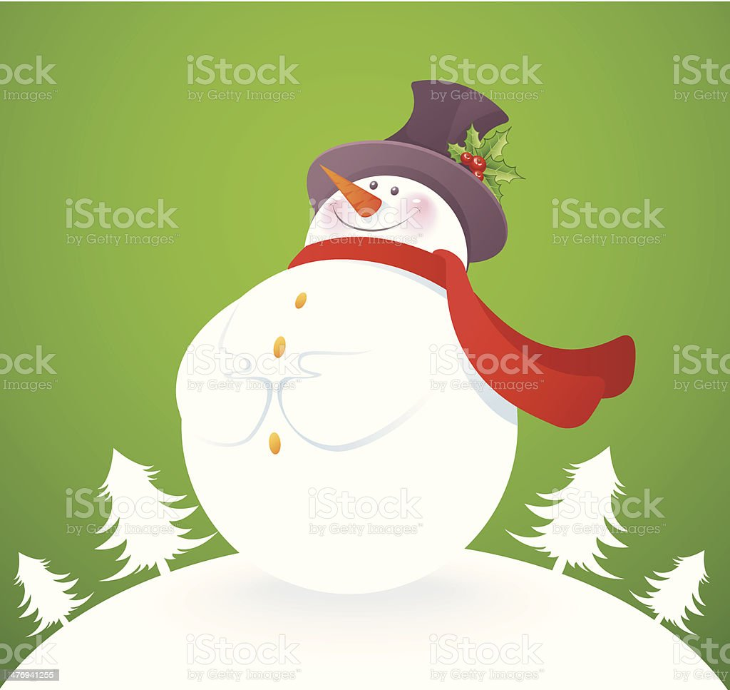Snowman on green back royalty-free snowman on green back stock vector art & more images of adults only
