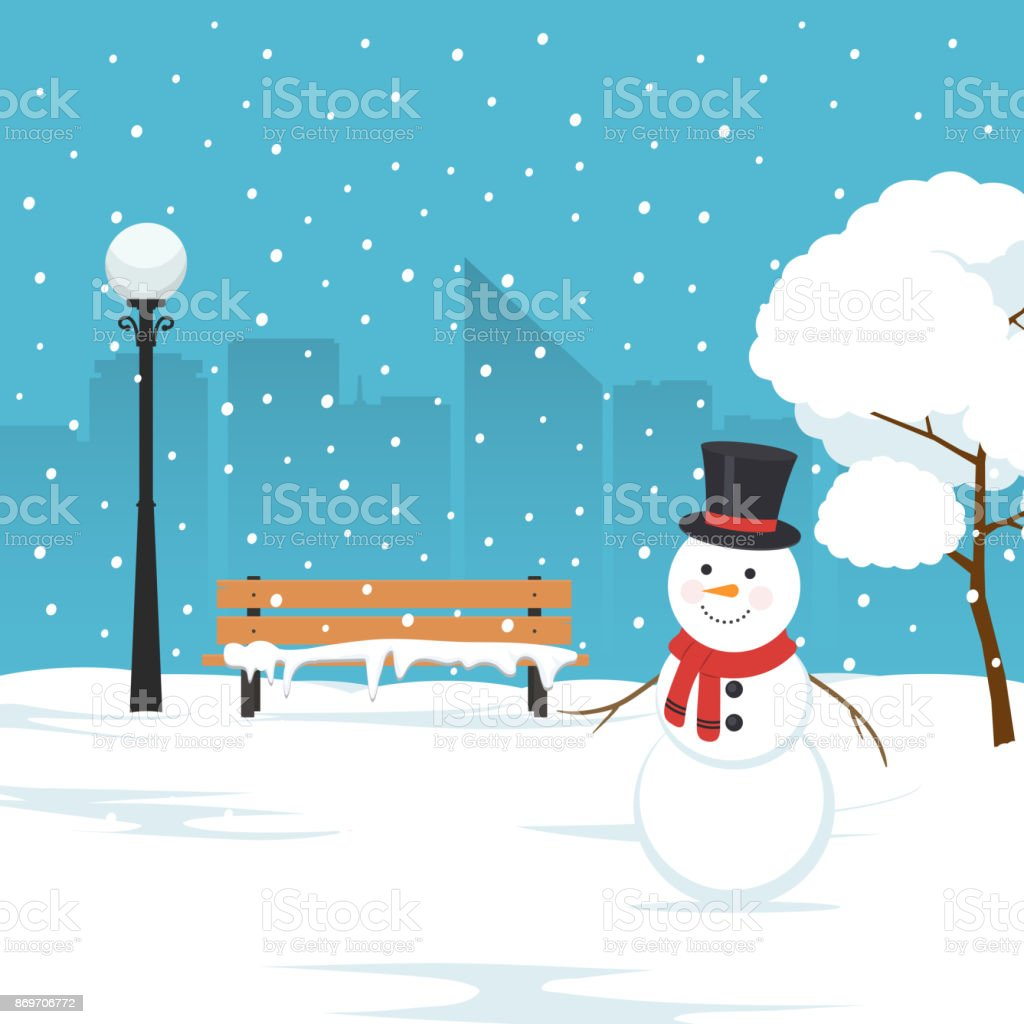 royalty free snowy park clip art vector images illustrations istock rh istockphoto com snow clipart background snow clipart black and white