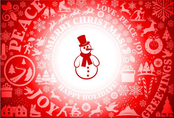 schneemann rot weihnachten urlaub hintergrund - karotte peace stock-grafiken, -clipart, -cartoons und -symbole