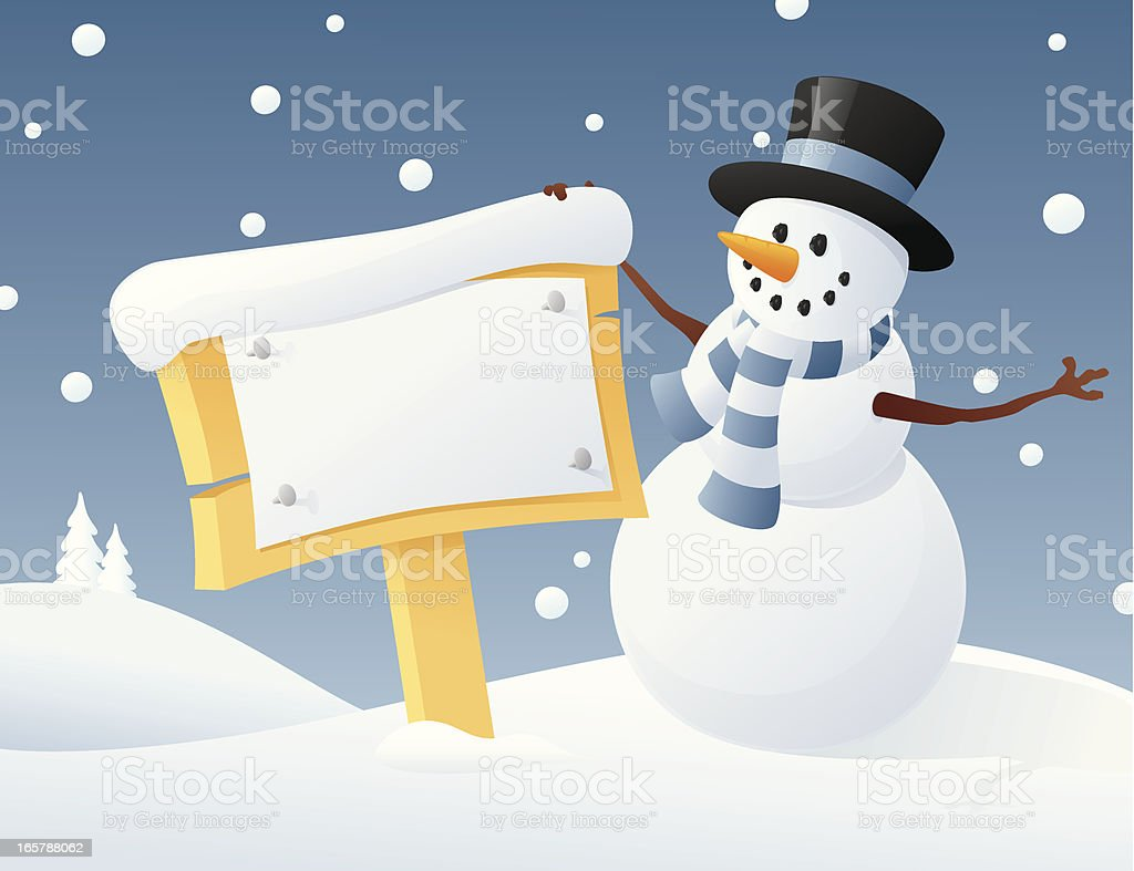 Snowman Says royalty-free snowman says stock vector art & more images of blue
