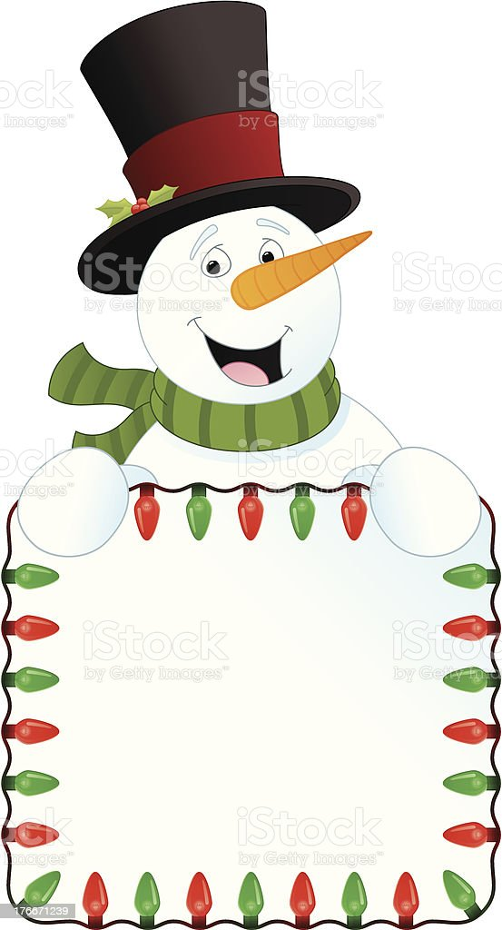 Snowman Sign royalty-free snowman sign stock vector art & more images of christmas