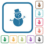 Snowman simple icons
