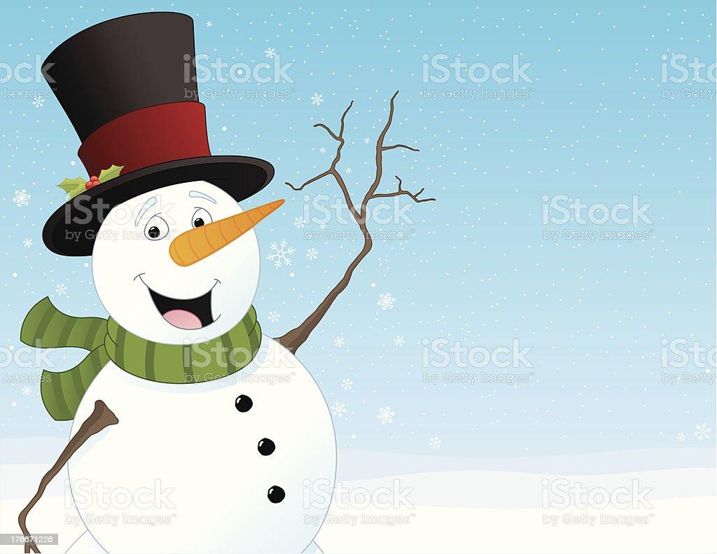 Muñeco de nieve ilustración de muñeco de nieve y más banco de imágenes de bufanda libre de derechos