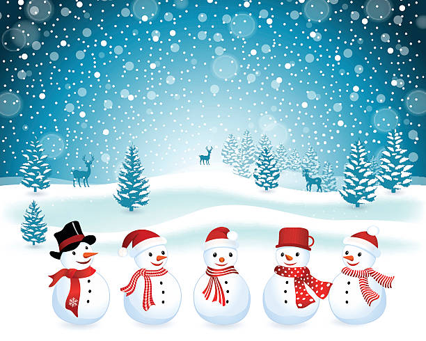 Snowman Christmas Background. EPS 10. snowman stock illustrations