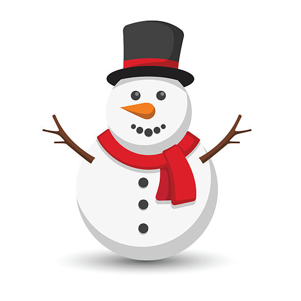 snowman Snowman vector illustration on white background snowman stock illustrations
