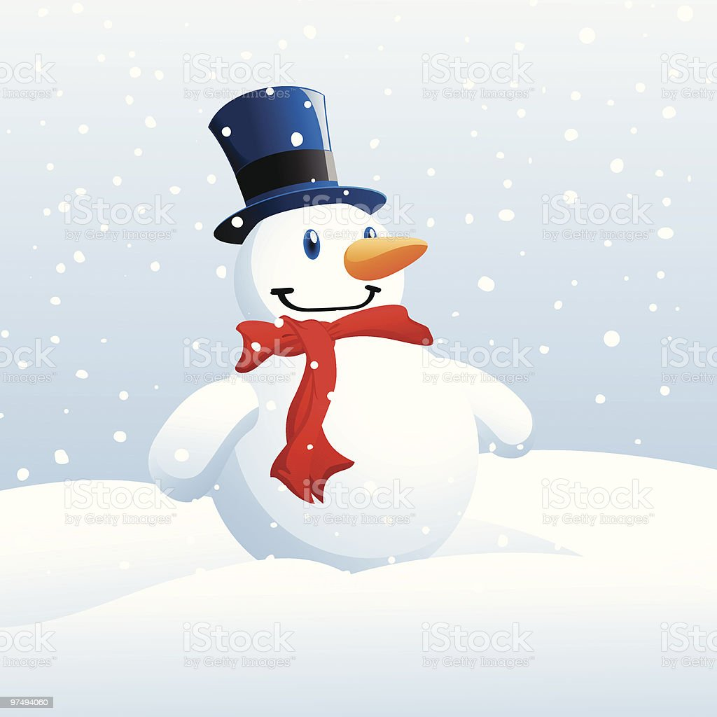 Snowman royalty-free snowman stock vector art & more images of blizzard