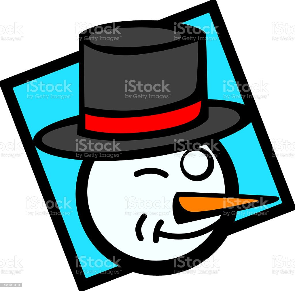 snowman wink royalty-free stock vector art