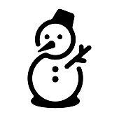 istock snowman / winter / christmas icon 928407284