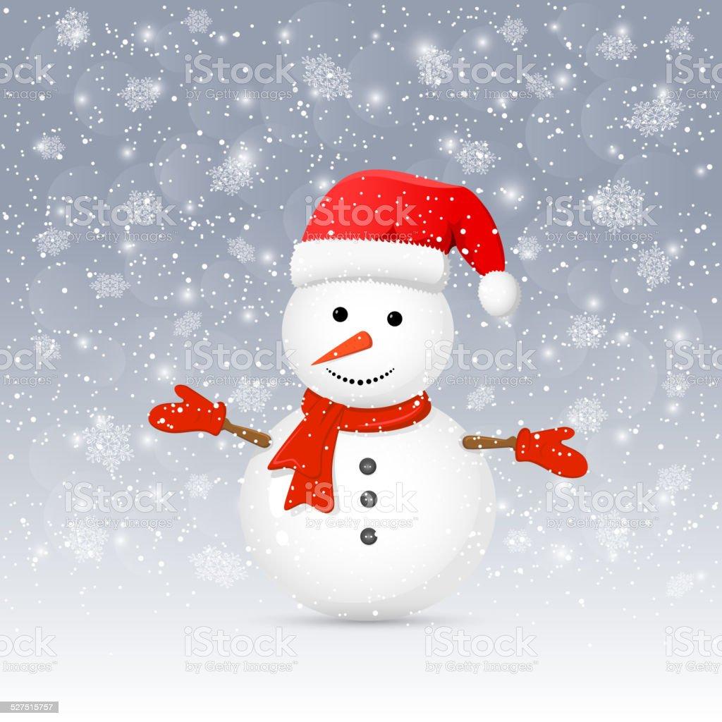 Pupazzo di neve con Cappello da Babbo Natale pupazzo di neve con cappello  da babbo natale dae47acb0229