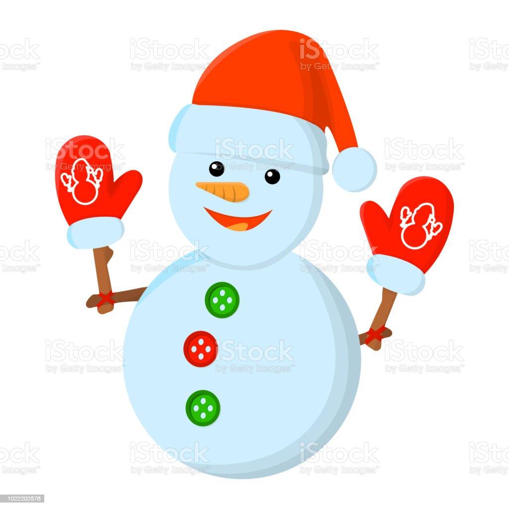 Ilustración De Icono Aislado De Navidad Muñeco De Nieve Estilo De