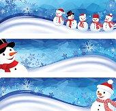 Snowman Banner. EPS 10.