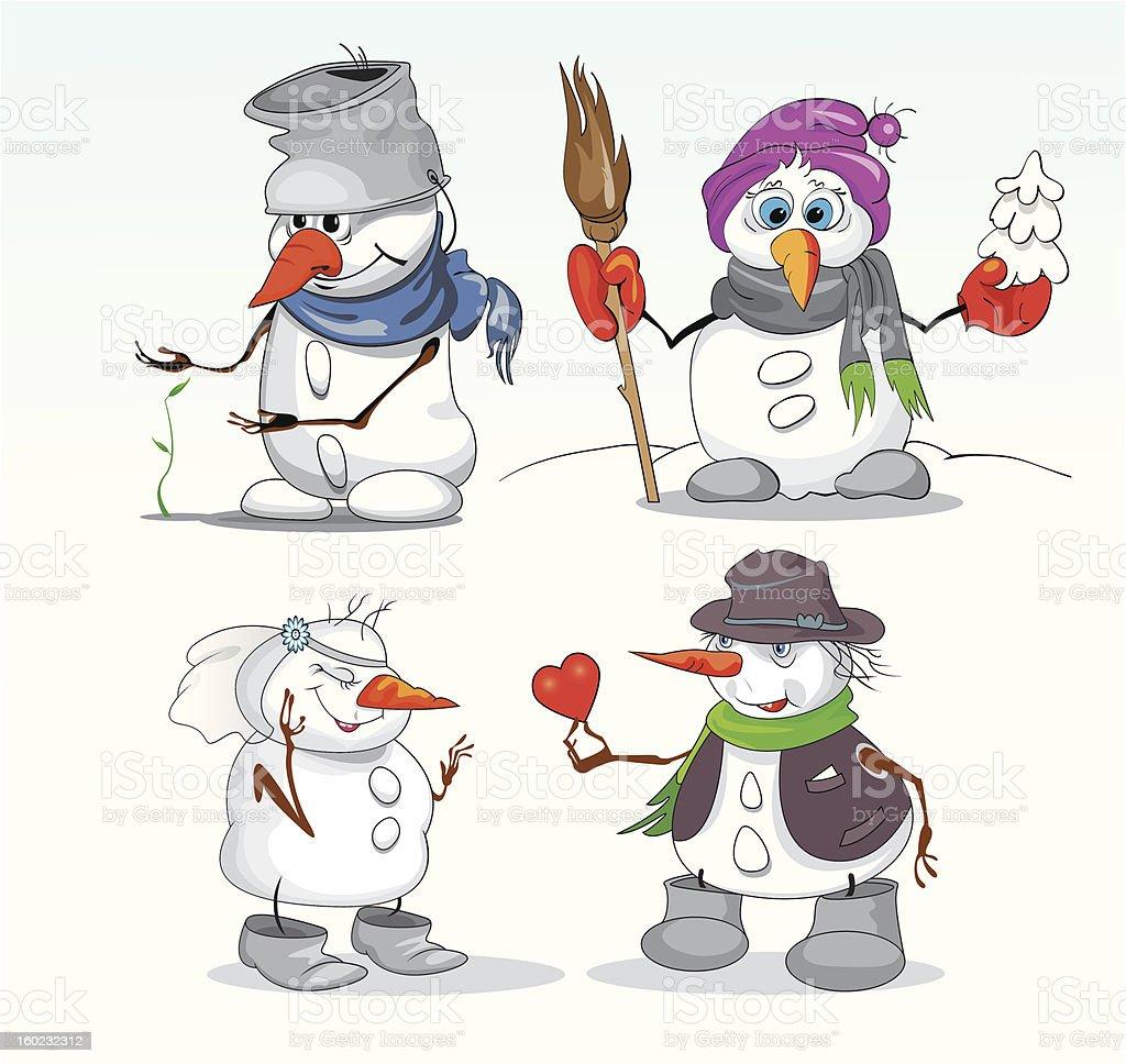 snowmen in winter royalty-free snowmen in winter stock vector art & more images of bride