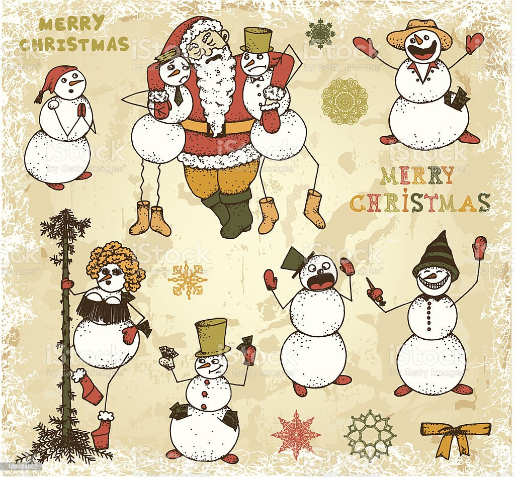 Snowmen party royalty-free snowmen party stock vector art & more images of adult